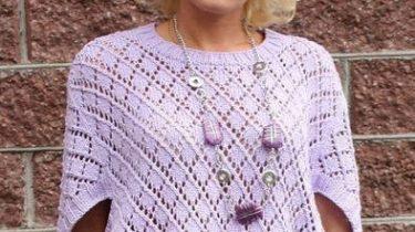 пуловер, схема, женский, свободного силуэта