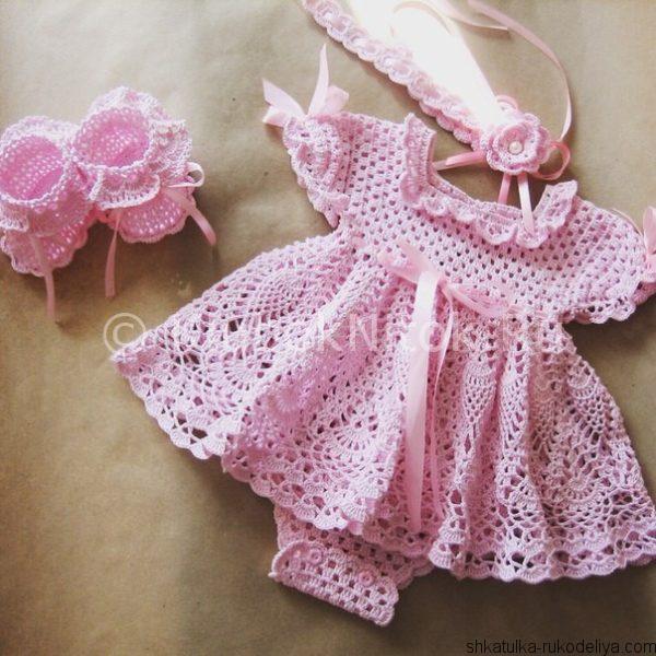 Платье- боди крючком