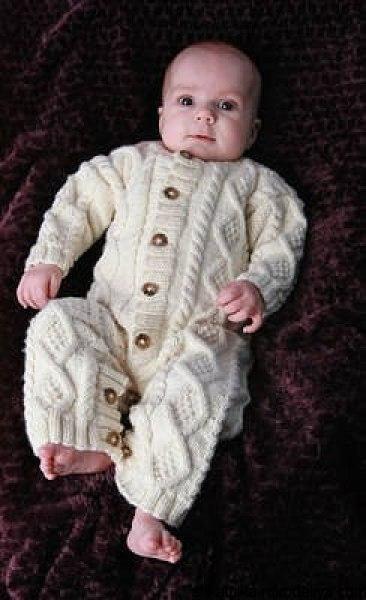 Комбинезон для новорожденных спицами