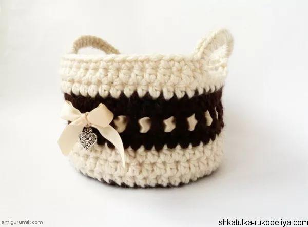 шапка из трикотажной пряжи крючком
