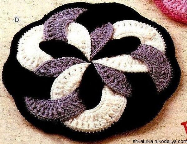 Японский коврик крючком