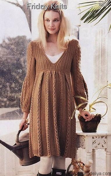 Вязание для беременных спицами платья для 62