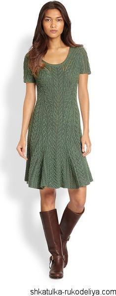 Платье спицами от Ральфа Лоурена