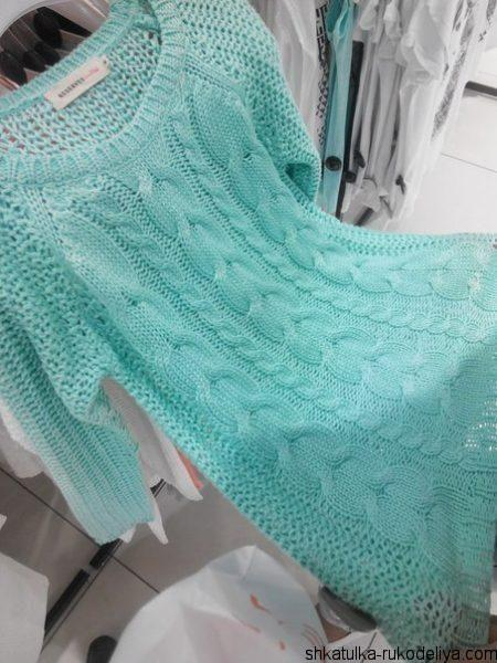 Платье-туника с косами