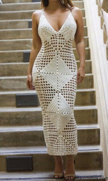 Шикарное платье из мотивов
