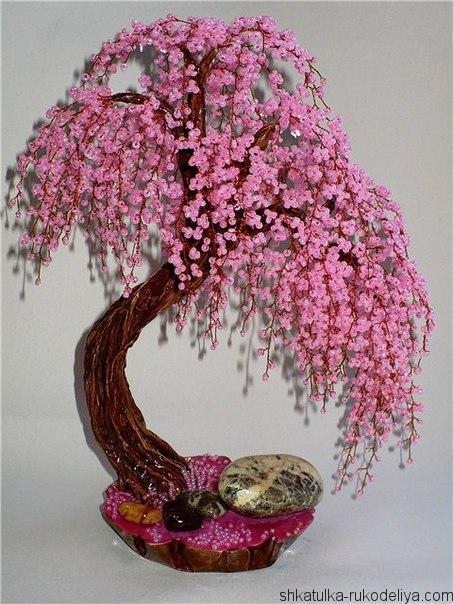 дерево ,схема, бисер
