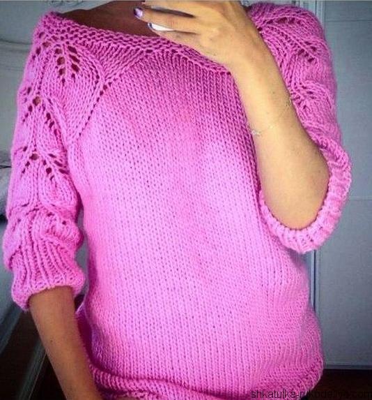 свитер, схема, реглан