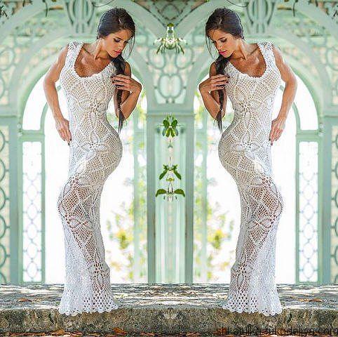 Длинное ананасовое платье