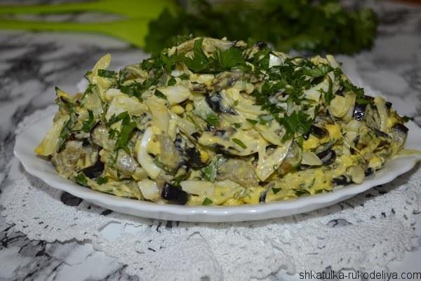салат. баклажаны, рецепт