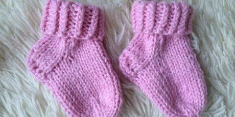 носки, вязание спицами, для детей