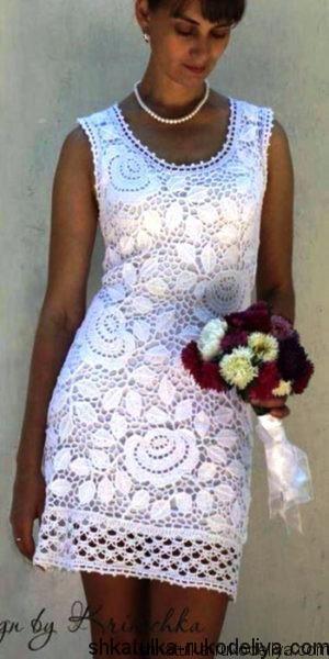 Платье «Белые розы»