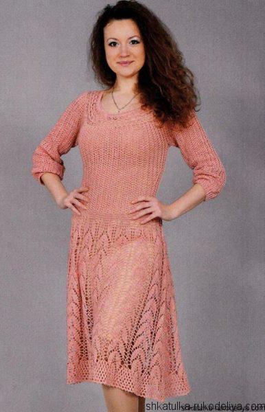 Женское платье с кокеткой