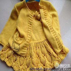 Желтый комплект для девочки