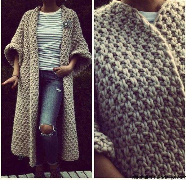 Модные вязаные модели у французов Вяжем с Лана Ви