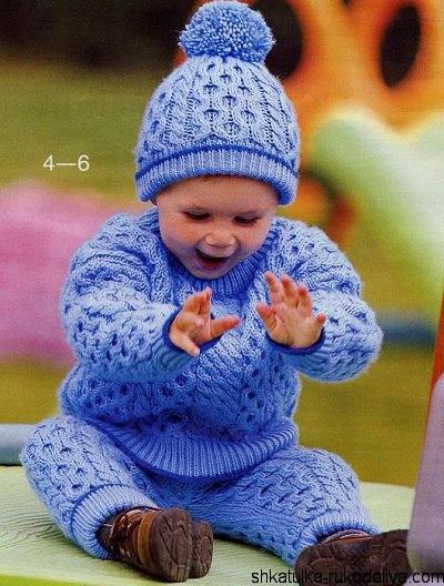 костюм для мальчика спицами схемы вязаный костюм для мальчика 1 год
