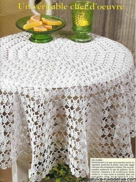 Ажурная скатерть для стола