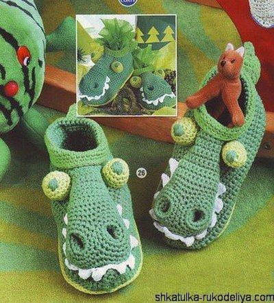 """Тапки """"Крокодильчики"""""""
