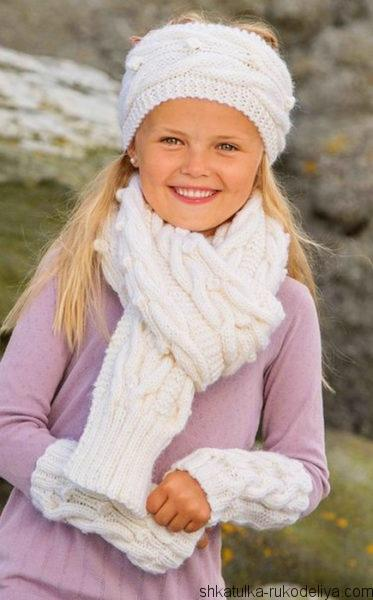 Белый комплект для девочки