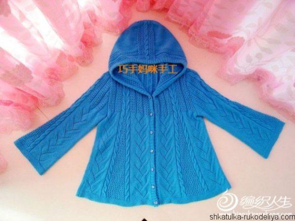Пальто-жакет с капюшоном
