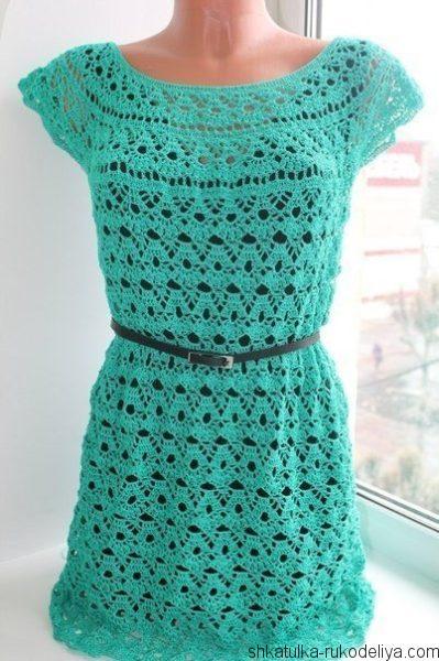 Платье на круглой кокетке