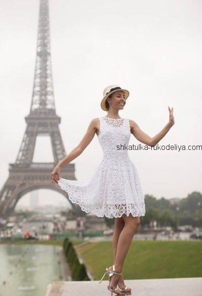 Летнее платье мотивами