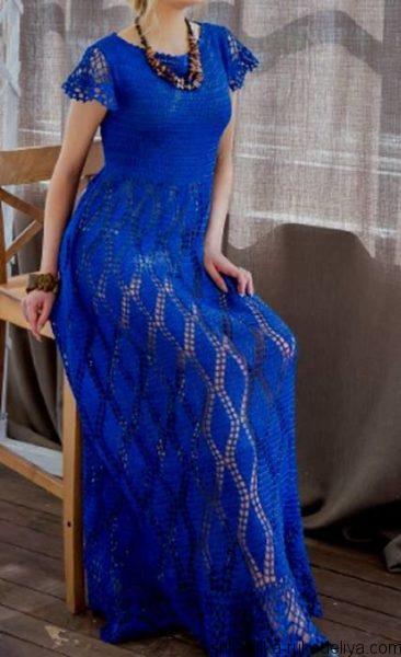 Платье макси в стиле бохо