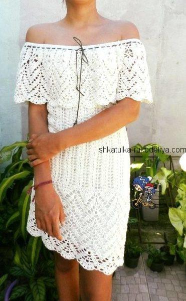 Летнее платье с пелериной
