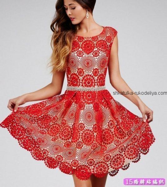 Вечернее платье мотивами
