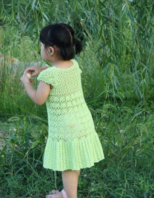 платье крючком для малышки схема вязание крючком платья для детей