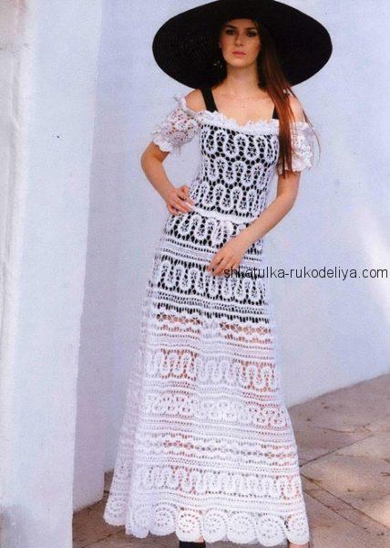 Белое платье брюггским кружевом
