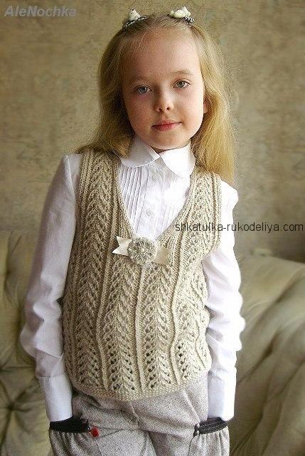 Детский вязаный свитер для девочки схема фото 336