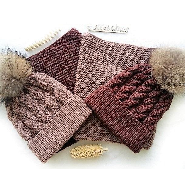 вязание спицами, комплект, зимний, автор тамара воеводина, видео, мастер класс