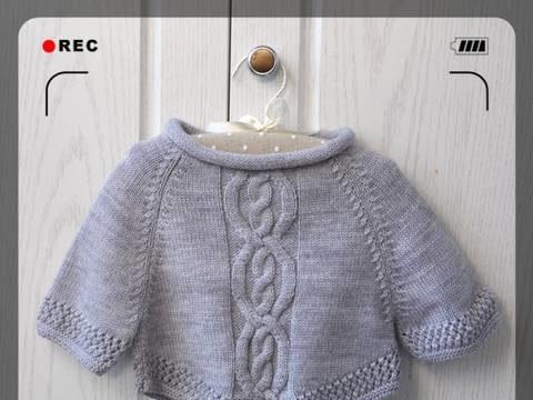 вязание спицами, кофточка, схема, детская, теплый