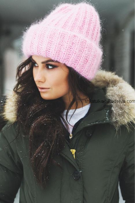 вязание спицами, шапочка, для женщин, мастер класс, видео, дизайнерское