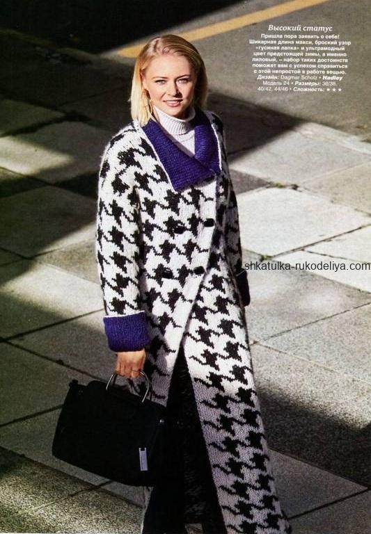 вязание спицами, пальто, ультрамодное, макси, женское, схема, описание