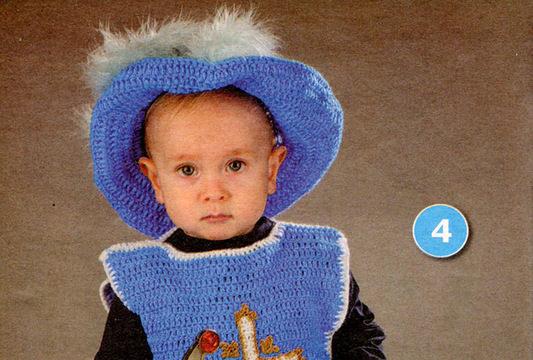 вязание крючком, костюм, карнавальный, мушкетер, для малыша, на 1-2 года