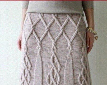 вязание спицами, юбка, теплая, длинная, араны, для женщин, схемы