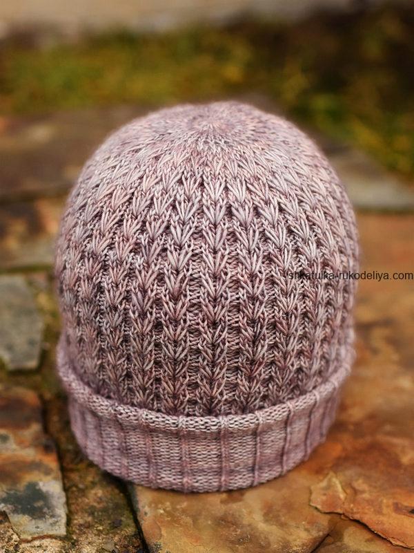 вязание спицами, шапочка, для женщин, мастер класс узора, описание