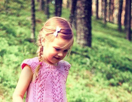 вязание спицами, платье, детское, розовое, без рукавов, схема, описание