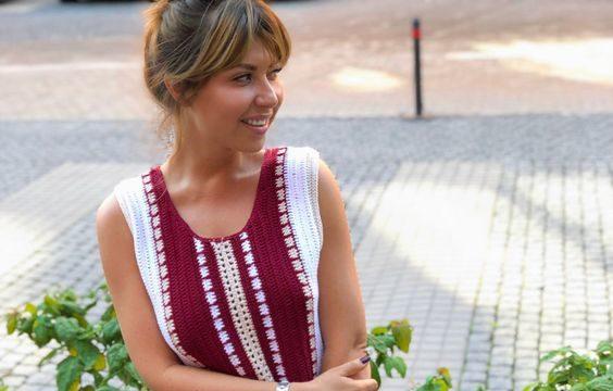 вязание крючком, платье, этнический стиль, схема, описание, для женщин