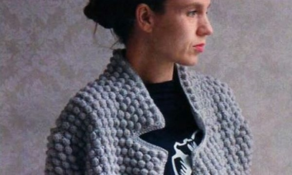 вязание крючком, пальто, короткое, для женщин, схема, описание, узор шишечка