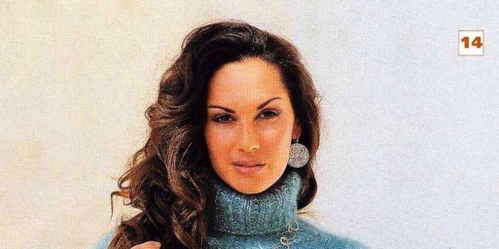 вязание спицами, пуловер, для женщин, широкий рукав, короткий, мохеровый, описание