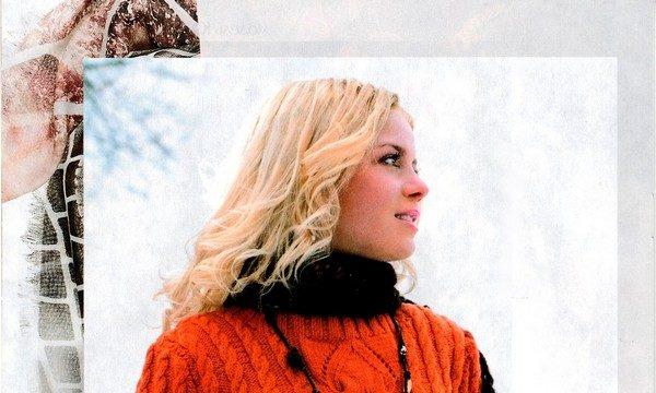 вязание спицами, джемпер, оранжевый, теплый, узор коса, для женщин, схема, описание