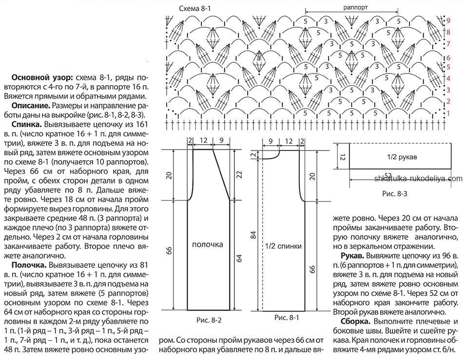 кардиган удлиненный крючком схемы с фото организовать