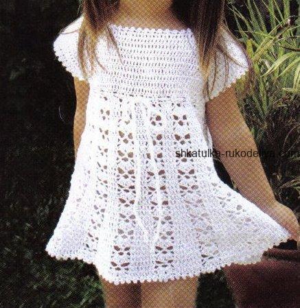 детское платье крючком схемы вязания крючком летних платьев для
