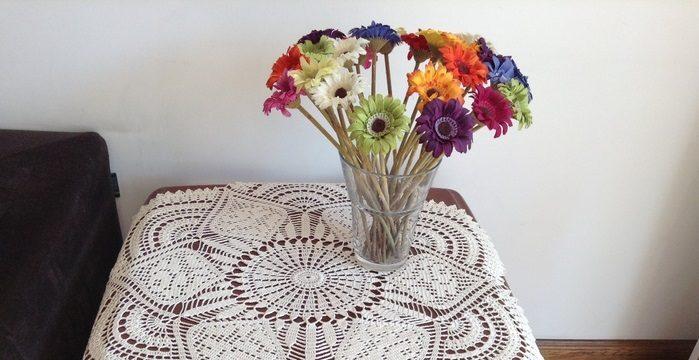 вязание крючком, салфетки, белые, круглая, для дома, ажурная