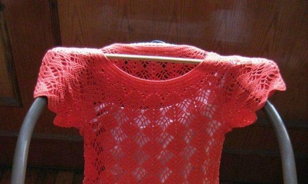 вязание крючком, платье, схема, нарядное, женское, летнее, короткое