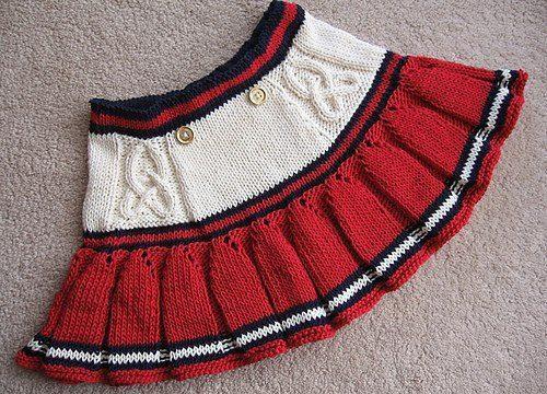 вязание спицами, юбка, описание, детская, складки, на 4 года, короткая
