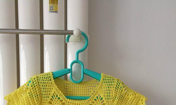 вязание крючком, топ, летний, детский, желтый, японские схемы