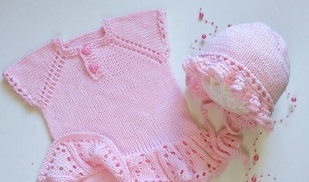 вязание спицами, боди, для девочки, розовое, подробный мастер класс, лето